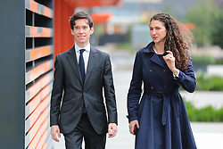 © Licensed to London News Pictures. 16/06/2019. London, UK. Rory Stewart and his wife Shoshana Clark arrive for the first televised debate between Conservative Party leadership contenders. Frontrunner Boris Johnson has said that he will not take part in the Channel 4 debate. Photo credit: Rob Pinney/LNP