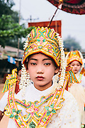 Procession for initiation of novice monk,Mawlamyine, Shan State, Myanmar