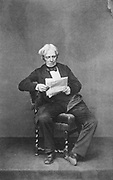 Michael Faraday (1791-1867) Briitsh physicist and chemist. From photograph taken in latter part of his life.