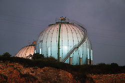 SPAIN GIJON 3OCT08 - Gas storage facility in the port of Gijon, northern Spain.....jre/Photo by Jiri Rezac....© Jiri Rezac 2008....Contact: +44 (0) 7050 110 417..Mobile:  +44 (0) 7801 337 683..Office:  +44 (0) 20 8968 9635....Email:   jiri@jirirezac.com..Web:    www.jirirezac.com....All images © Jiri Rezac 2008. All rights reserved.