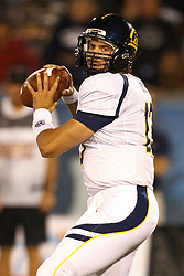 September 17, 2010; Reno, NV, USA; California Golden Bears quarterback Kevin Riley (13) passes against the Nevada Wolf Pack during the second quarter at Mackay Stadium. Nevada defeated California 52-31.