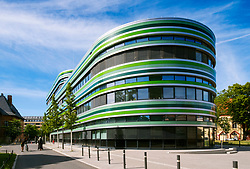 Exterior of modern office building in Mitte, Berlin, Germany
