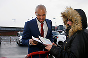 Middlesbrough goalkeeper Darren Randolph (23)  signing autographs during the EFL Sky Bet Championship match between Middlesbrough and Derby County at the Riverside Stadium, Middlesbrough, England on 27 October 2018.