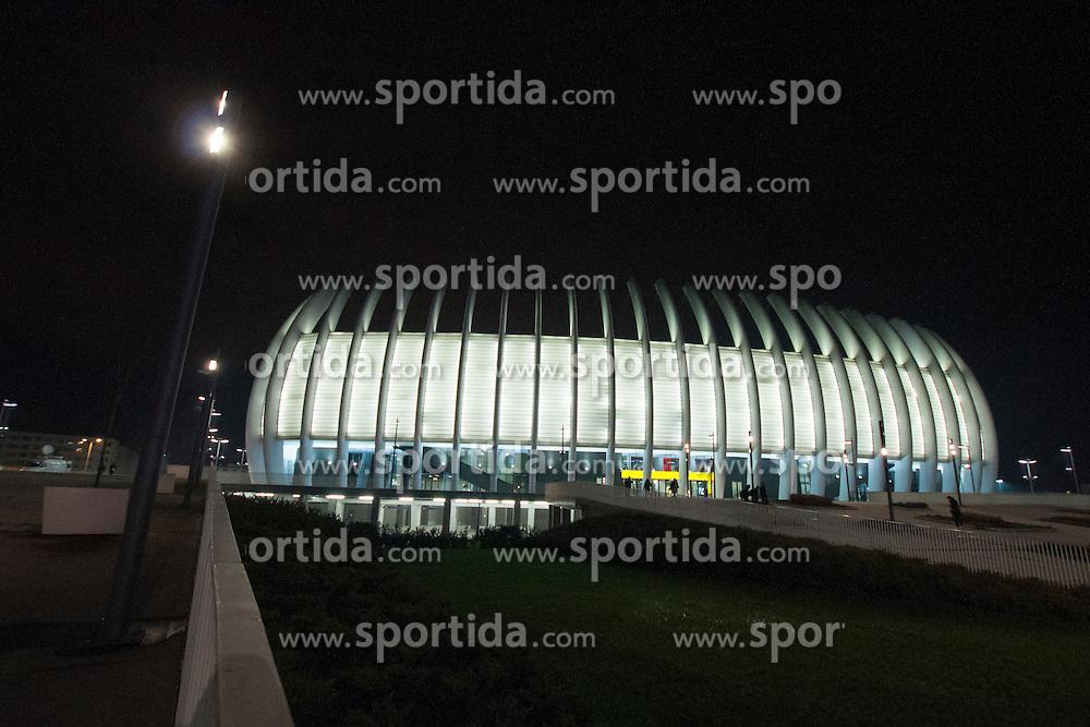 Arena Zagreb after handball match between Netherlands and France at 11th EHF European Women's Handball Championship Hungary-Croatia 2014, on December 17, 2014 in Arena Zagreb, Zagreb, Croatia. Photo By Urban Urbanc / Sportida
