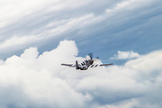 North American P-51B Mustang in flight. Photographed at Royal International Air Tattoo (RIAT)
