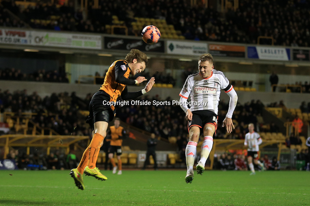 13th January 2015 - FA Cup - 3rd Round Replay - Wolverhampton Wanderers v Fulham - Cauley Woodrow of Fulham scores their 1st goal - Photo: Simon Stacpoole / Offside.