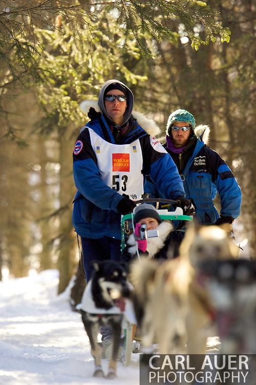March 7th, 2009:  Anchorage, Alaska - Sven Haltmann of Willow, Alaska during the start of the 2009 Iditarod.