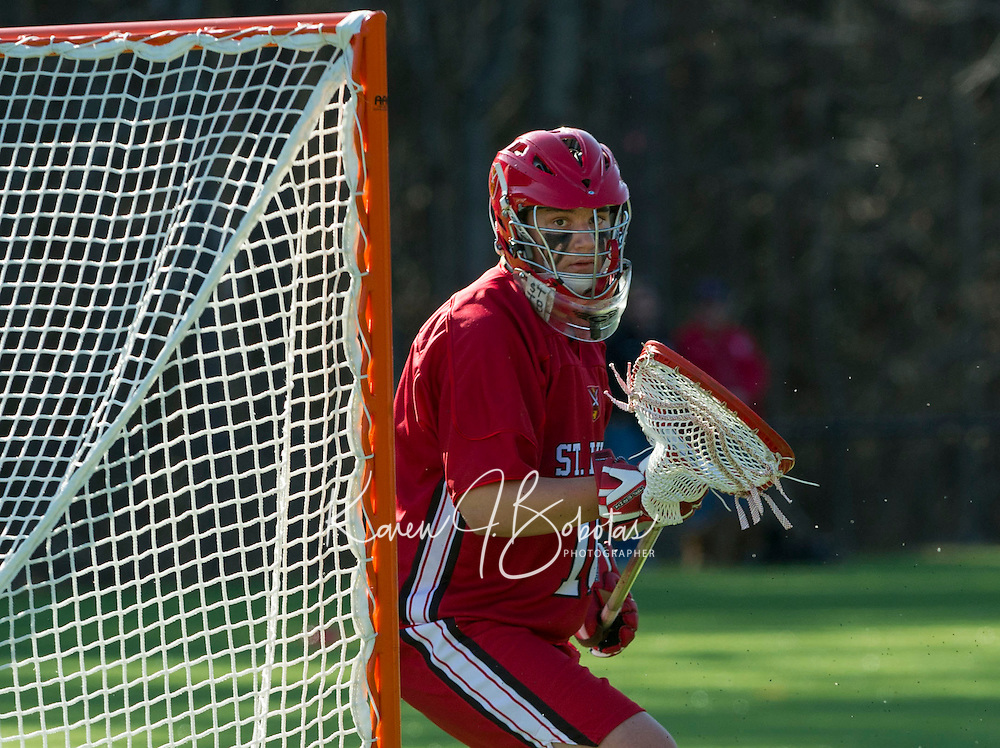 St. Paul's School boys Lacrosse versus Brooks School.  Karen Bobotas Photographer
