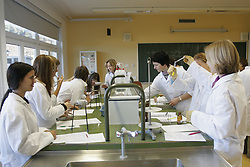 In a school at chemistry. (Photo by Vid Ponikvar / Sportida)