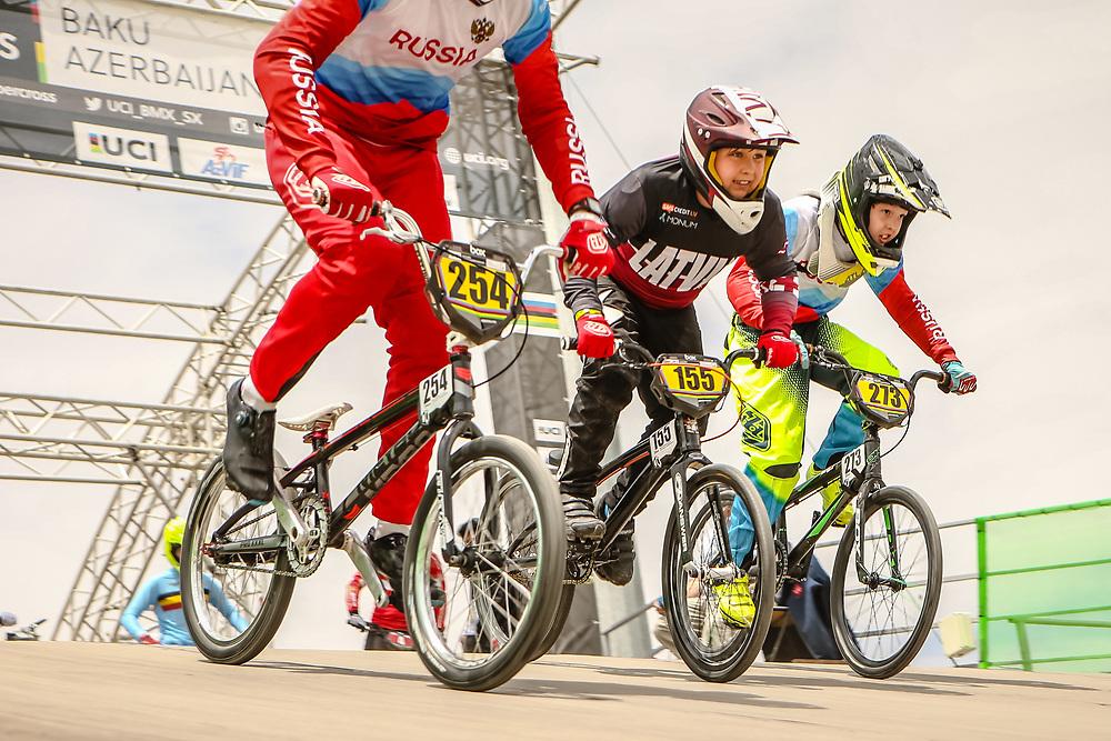 2018 UCI World Championships<br /> Baku, Azerbaijan<br /> 10 Boys #155 (KRUMINS Arturs Roberts) LAT Thrill<br /> 12 Boys #273 (CHUCHUI Ilia) RUS
