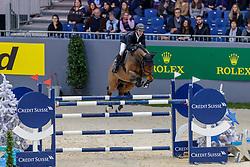 BOURQUARD Anthony (SUI), Cim Air<br /> Genf - CHI Geneve Rolex Grand Slam 2019<br /> Prix des Communes Genevoises<br /> 2-Phasen-Springen<br /> International Jumping Competition 1m50<br /> Two Phases: A + A, Both Phases Against the Clock<br /> 13. Dezember 2019<br /> © www.sportfotos-lafrentz.de/Stefan Lafrentz