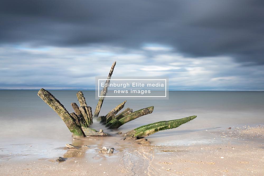 Shipwreck at Longniddry Bents near Edinburgh