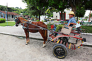 Horse and cart in Corral Nuevo, Matanzas, Cuba.