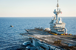 France's Charles de Gaulle aircraft carrier has been re-deployed in airstrikes against Syrian ISIS targets as part of Operation Chammal, in Syria on September 30, 2016. Photo by ECPAD/ABACAPRESS.COM