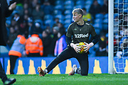 Will Huffer of Leeds United (13) warming up  before his first team debut for Leeds United during the EFL Sky Bet Championship match between Leeds United and Bristol City at Elland Road, Leeds, England on 24 November 2018.