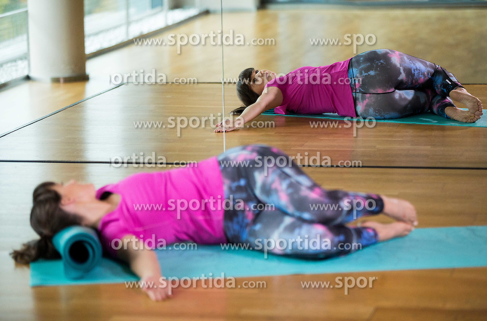 Hana Verdev, Personal Trainer during presentation of Pilates exercises, on October 20, 2016 in Sunny Studio, Ljubljana, Slovenia. Photo by Vid Ponikvar / Sportida