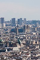 view from montmartre in Paris France in May 2008