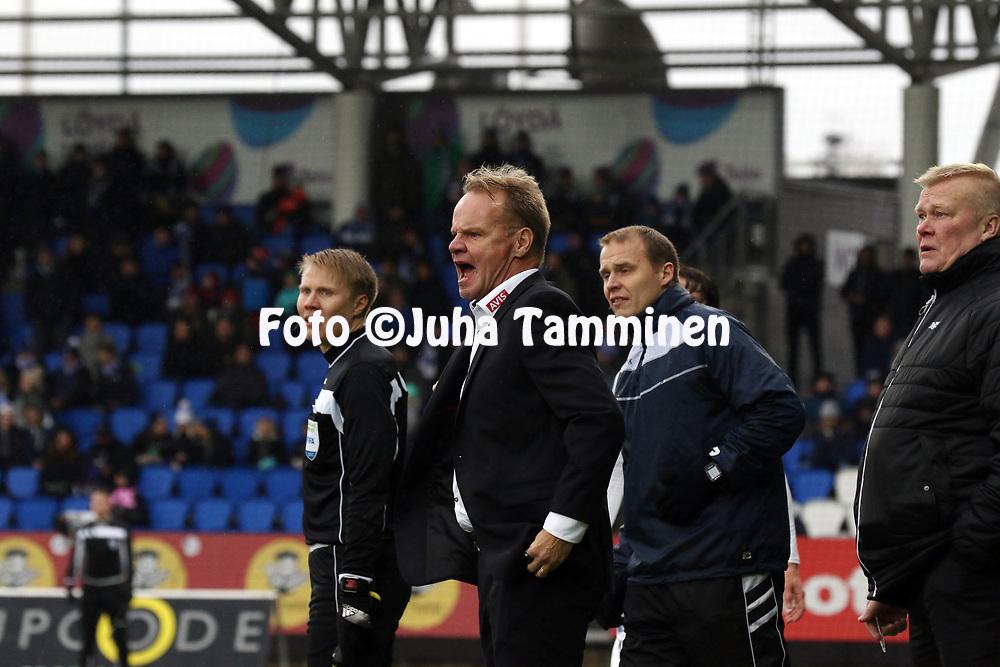 28.10.2017, Telia 5G-Areena (T&ouml;&ouml;l&ouml;n jalkapallostadion), Helsinki.<br /> Veikkausliiga 2017.<br /> Helsingin Jalkapalloklubi - Rovaniemen Palloseura.<br /> Valmentaja Juha Malinen - RoPS