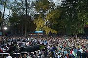 14,000 showed up to support President Obama at a rally on College Green on the campus of Ohio University in Athens, Ohio. Photo by Ben Siegle/ Ohio University