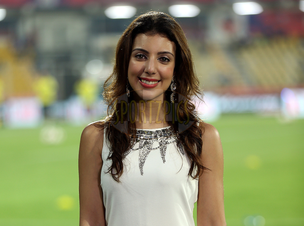 Anchor during match 25 of the Indian Super League (ISL) season 2  between FC Goa and FC Pune City held at the Jawaharlal Nehru Stadium, Fatorda, Goa, India on the 30th October 2015.<br /> <br /> Photo by Sandeep Shetty / ISL/ SPORTZPICS