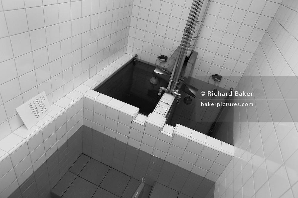 The Jewish faith Mikveh baths where recent converts to Judaism bathe in private, at the Sternberg Centre. London...Reproduced for Alain de Botton's 'Religion for Atheists' 2010. .Photograph copyright Richard Baker, London.richard@bakerpictures.com.Tel 0044 207836 287080.