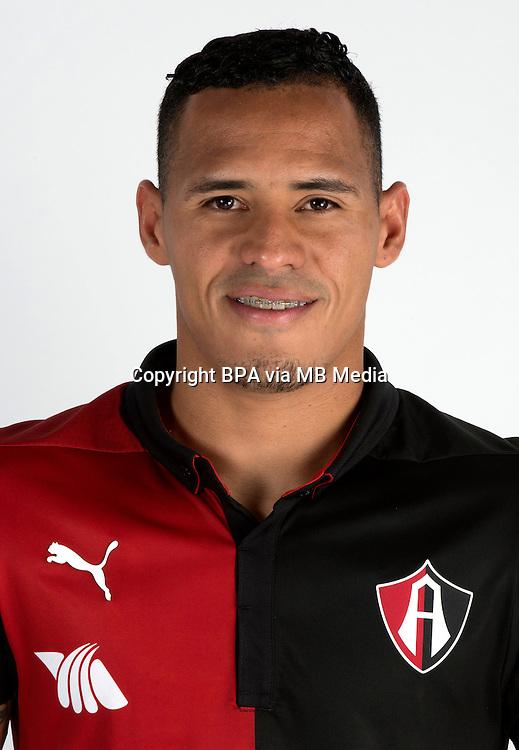 Mexico League - BBVA Bancomer MX 2014-2015 -<br /> Rojinegros - Club Atlas de Guadalajara Fc / Mexico - <br /> Aldo Leao Ramirez Sierra