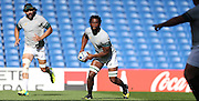 Siya Kolisi in action during the South Africa Captain's Run training session in preparation for the Rugby World Cup at the American Express Community Stadium, Brighton and Hove, England on 18 September 2015.