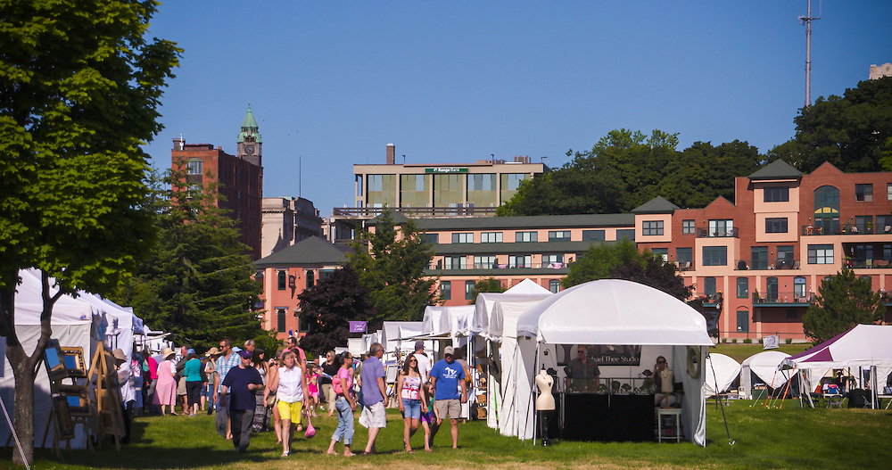 Mattson Park in Marquette, Michigan during Art on the Rocks art show.