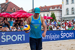 Jure Peter Bedrac at Beach Volleyball Challenge Ljubljana 2014, on August 2, 2014 in Kongresni trg, Ljubljana, Slovenia. Photo by Matic Klansek Velej / Sportida.com