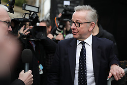 © Licensed to London News Pictures. 12/12/2018. London, UK. Secretary of State for Environment Michael Gove on College Green as he speaks to the media. Prime Minister Theresa May faces a vote of no confidence from her own party. Photo credit: Rob Pinney/LNP