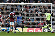 Bournemouth Forward, Benik Afobe (9) misses during the Premier League match between Burnley and Bournemouth at Turf Moor, Burnley, England on 10 December 2016. Photo by Mark Pollitt.