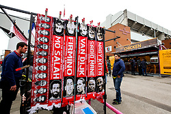 Scarves on sale of Liverpool players outside Anfield - Mandatory by-line: Robbie Stephenson/JMP - 22/09/2018 - FOOTBALL - Anfield - Liverpool, England - Liverpool v Southampton - Premier League
