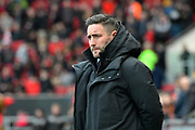 Bristol City manager Lee Johnson during the EFL Sky Bet Championship match between Bristol City and Bolton Wanderers at Ashton Gate, Bristol, England on 12 January 2019.