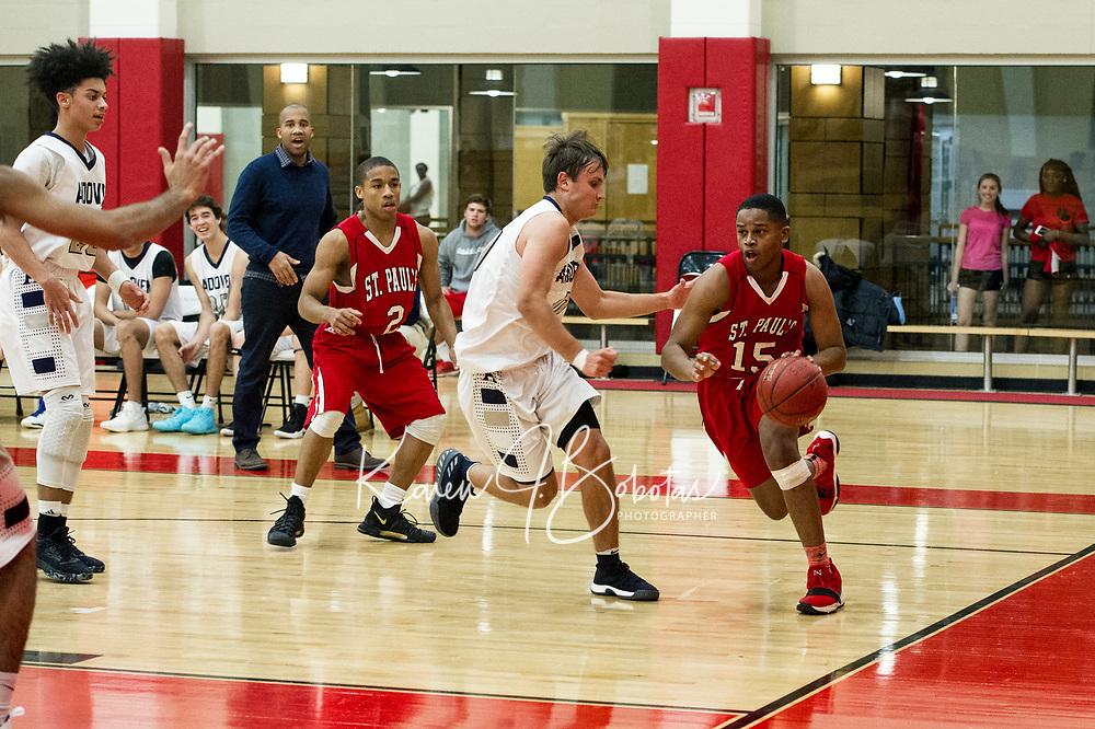 St Pauls School boys basketball.  ©2018 Karen Bobotas Photographer