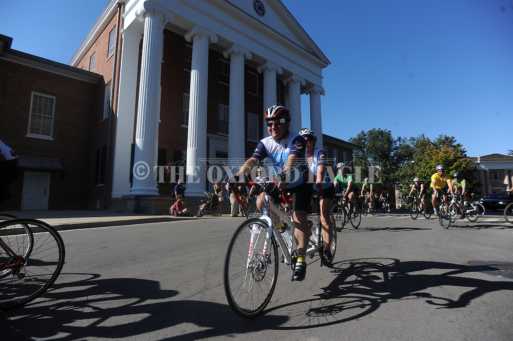 Over 100 people participated in a bike ride in memory of Kevser Ermin in Oxford, Miss. on Sunday, October 17, 2011. Ermin, 27, a student at Ole Miss, was killed when struck by a car on Highway 314 while riding her bike...