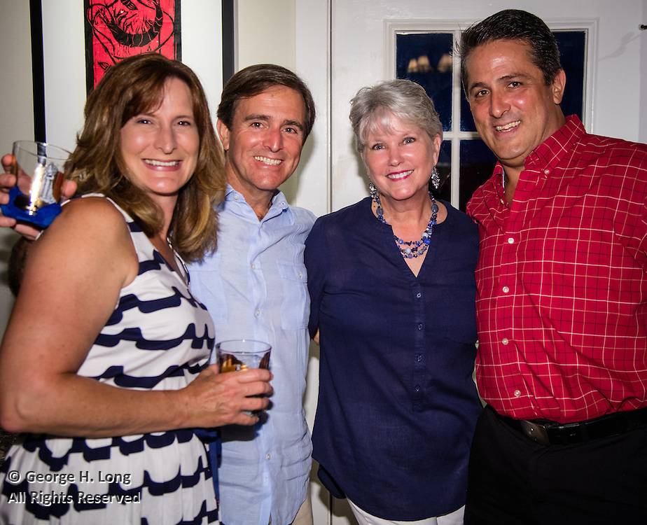 Celebrating four birthdays at the home of Courtney Blitch and George Long on June 25, 2016: Courtney Blitch, John Ginn, Heidi Hampton, and Harry Cole