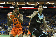 George Beamon of Worcester Wolves during the Betway British Basketball All-Stars Championship at the O2 Arena, London, United Kingdom on 24 September 2017. Photo by Martin Cole.