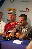 13.01.2012, Abu Dhabi. Volvo Ocean Race, skippers press conference, frank cammas skipper of groupama sailing team, 2ns place in abu dhabi in port race