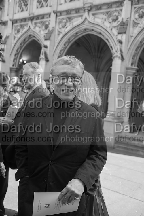 JASPER CONRAN, Service of thanksgiving for  Lord Snowdon, St. Margaret's Westminster. London. 7 April 2017JASPER CONRAN,