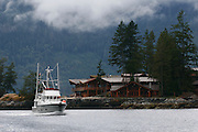 Yacht cruising into Princess Louisa Inlet
