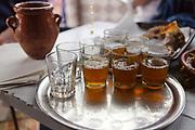 Moroccan mint tea, Marrakesh Medina, Morocco, 2016–04-16.