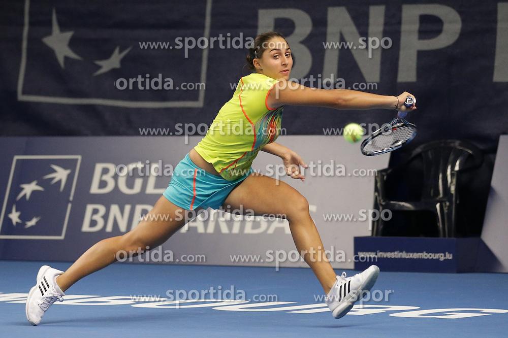 15.10.2012, CK Sports Center, Kockelscheuer, LUX, WTA, BGL BNP Paribas Luxemburg Open, im Bild Tamira PASZEK (Oesterreich - Austria, Setzliste 7) // during the WTA BGL BNP Paribas Luxembourg Open at the CK Sports Center at Kockelscheuer, Luxembourg on 2012/10/15. EXPA Pictures © 2012, PhotoCredit: EXPA/ Eibner/ Gerry Schmit..***** ATTENTION - OUT OF GER *****