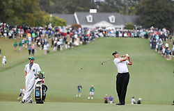 April 7, 2018 - Augusta, GA, USA - Matt Kuchar hits from the 1st fairway during the third round of the Masters Tournament on Saturday, April 7, 2018, at Augusta National Golf Club in Augusta, Ga. (Credit Image: © Jason Getz/TNS via ZUMA Wire)