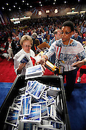 San Diego,CA-Delegates drop off postcards to mail to Gov. Schwarzenger during the 147th Annual Meeting at the RA Saturday. ( Photo/ Scott Iskowitz/ RA TODAY)
