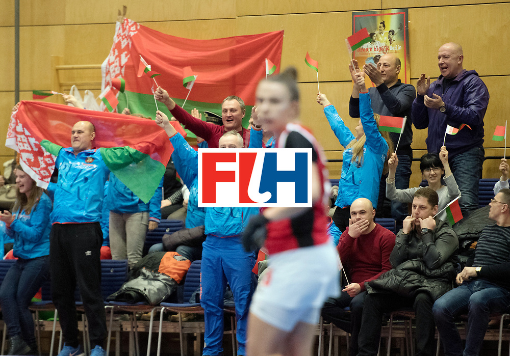 BERLIN - Indoor Hockey World Cup<br /> Belarus - Poland<br /> foto: <br /> WORLDSPORTPICS COPYRIGHT FRANK UIJLENBROEK