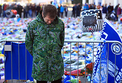 Lead singer of Kasabian, Tom Meighan pays tribute at Leicester City Football Club. Leicester Chairman, Vichai Srivaddhanaprabha, was among those to have tragically lost their lives on Saturday evening when a helicopter carrying him and four other people crashed outside King Power Stadium.