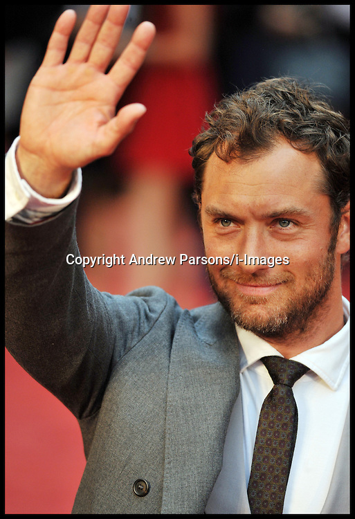 Jude Law arrives for the - UK film premiere of Anna Karenina, London, Tuesday September 4, 2012 Photo Andrew Parsons/i-Images..All Rights Reserved ©Andrew Parsons/i-Images<br /> File photo - Jude Law NOTW Hacking.<br /> Jude Law is told relative sold story of girlfriend Sienna Miller's affair with Daniel Craig. Picture filed Tuesday, 28th January 2014.