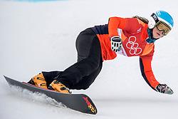 24-02-2018 KOR: Olympic Games day 15, PyeongChang<br /> Parallel Giant Slalom / Spelen Michelle Dekker voorbij; snowboardster komt 0,01 seconde tekort.