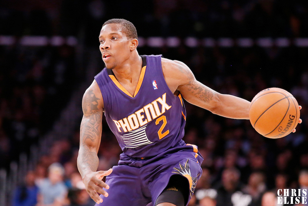 10 December 2013: Phoenix Suns point guard Eric Bledsoe (2) is seen during the Phoenix Suns 114-108 victory over the Los Angeles Lakers at the Staples Center, Los Angeles, California, USA.