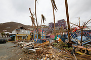 View of damage caused on by Hurricane Irma in Road Town, the capital of the British Virgin Islands.<br /> <br /> Picture: Russell Watkins/DFID